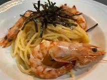 ご家庭でプロの味♪  明太子(たらこ)&車海老のスパゲッティ~♪